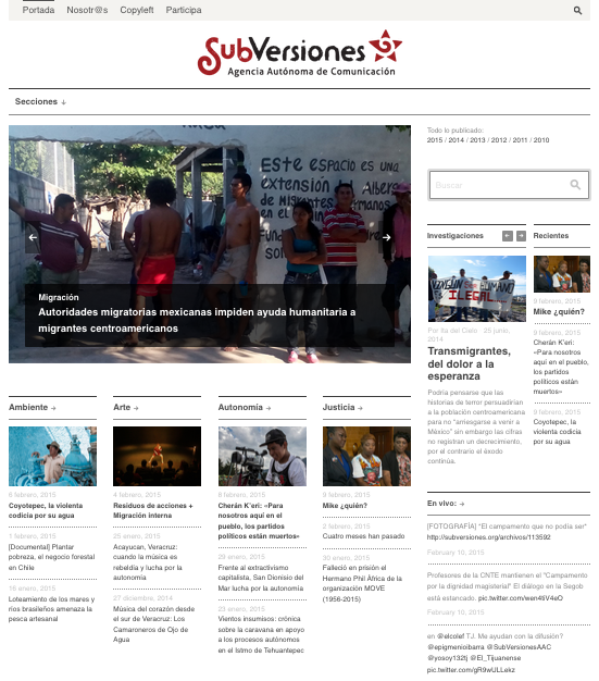 [Web] <br>SubVersiones