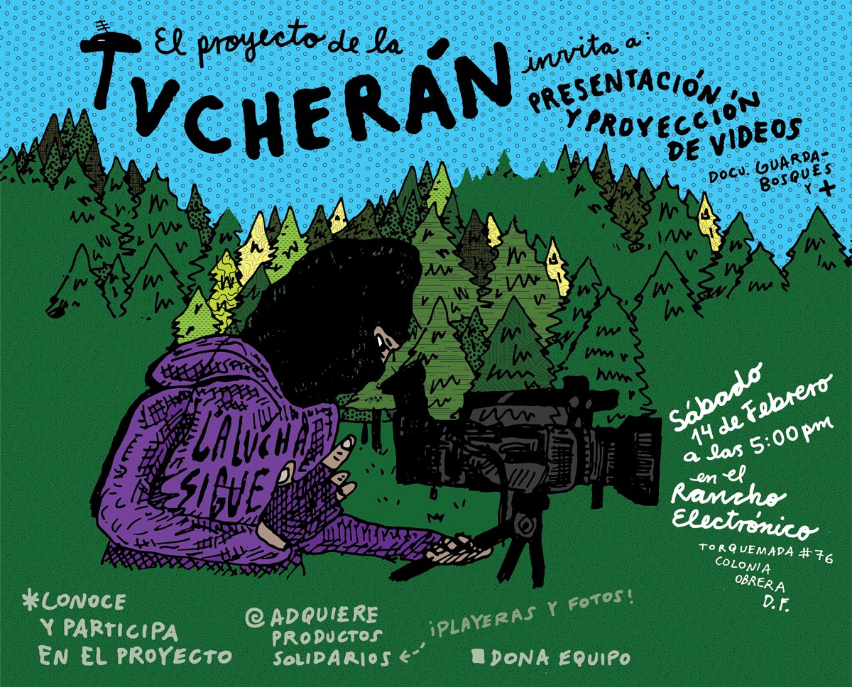 [Cartel] <br>Tv Cherán en DF
